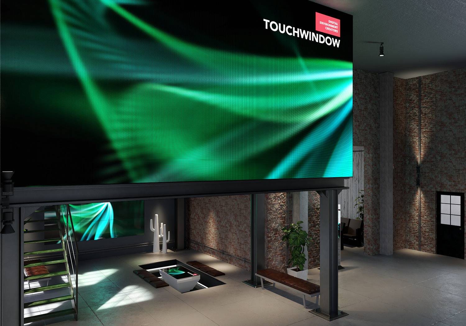Touchwindow led-wall