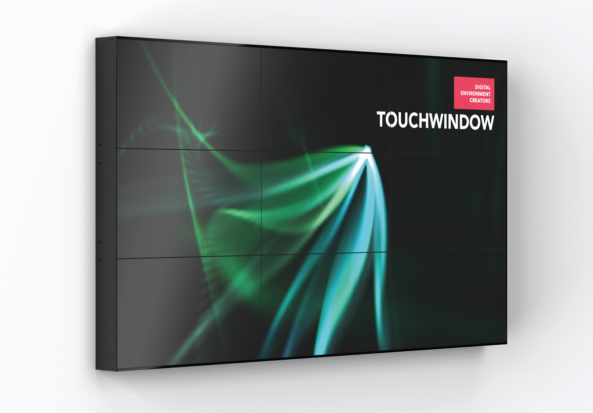 Touchwindow video-wall